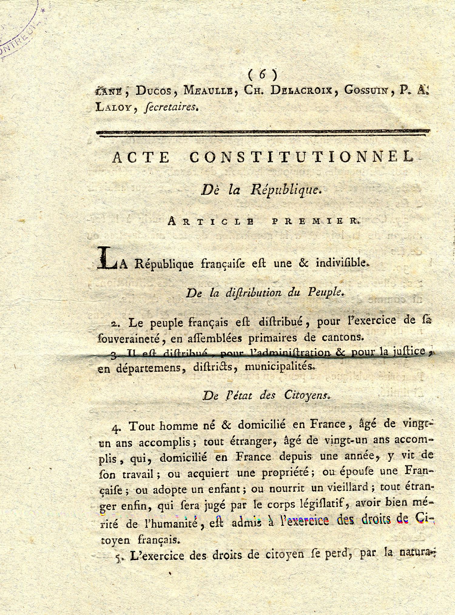 Projet de constitution française -